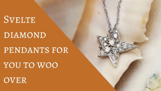 Svelte diamond pendants