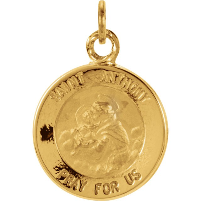 Anthony Medal 14K Yellow 12.14x12.09mm St