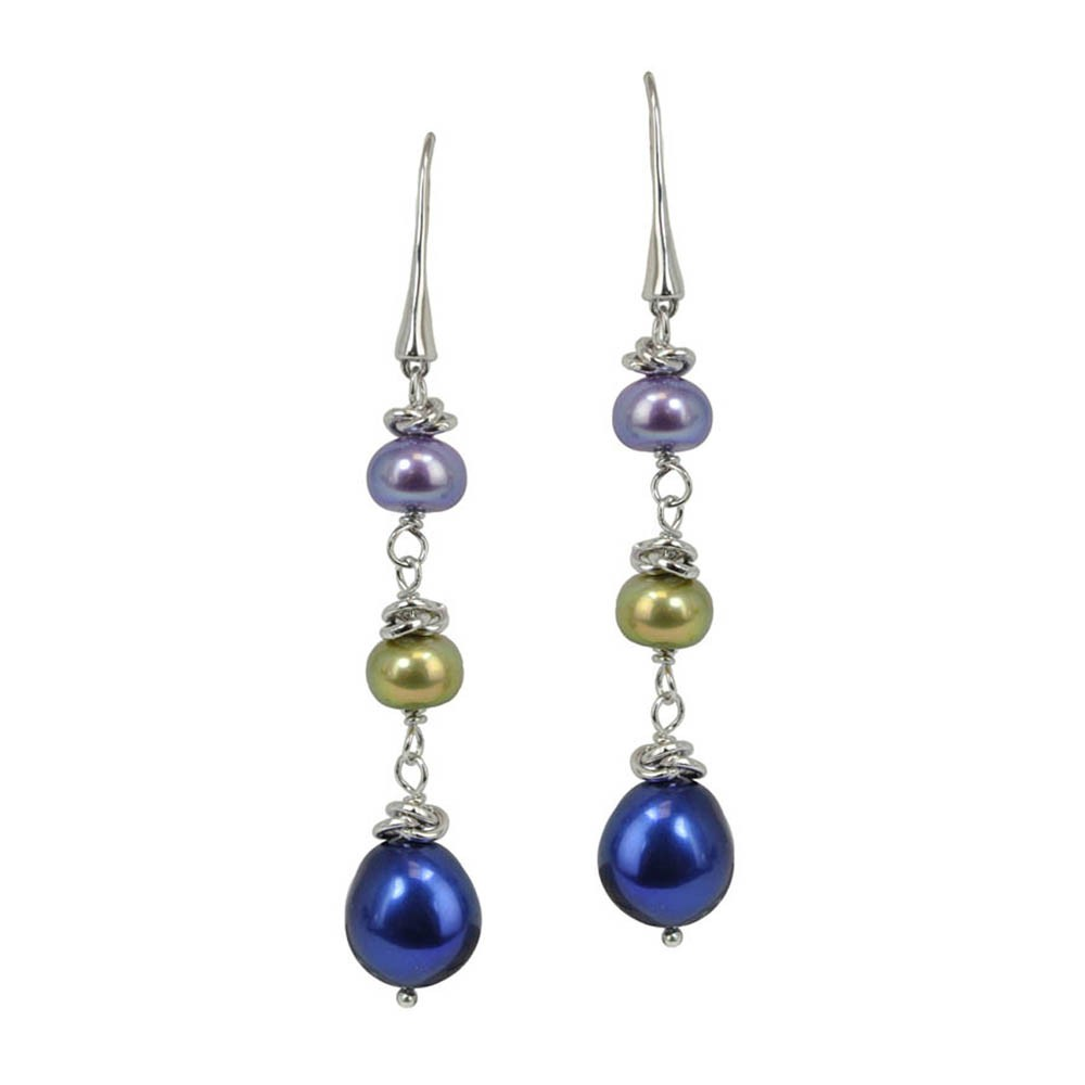 HONORA PEARL  9-10MM BUTTON  BRONZE//CHOCOLATE  STERLING  SILVER EARRING NEW