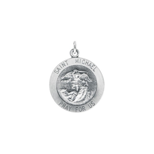 Sterling Silver 18mm St Michael Medal