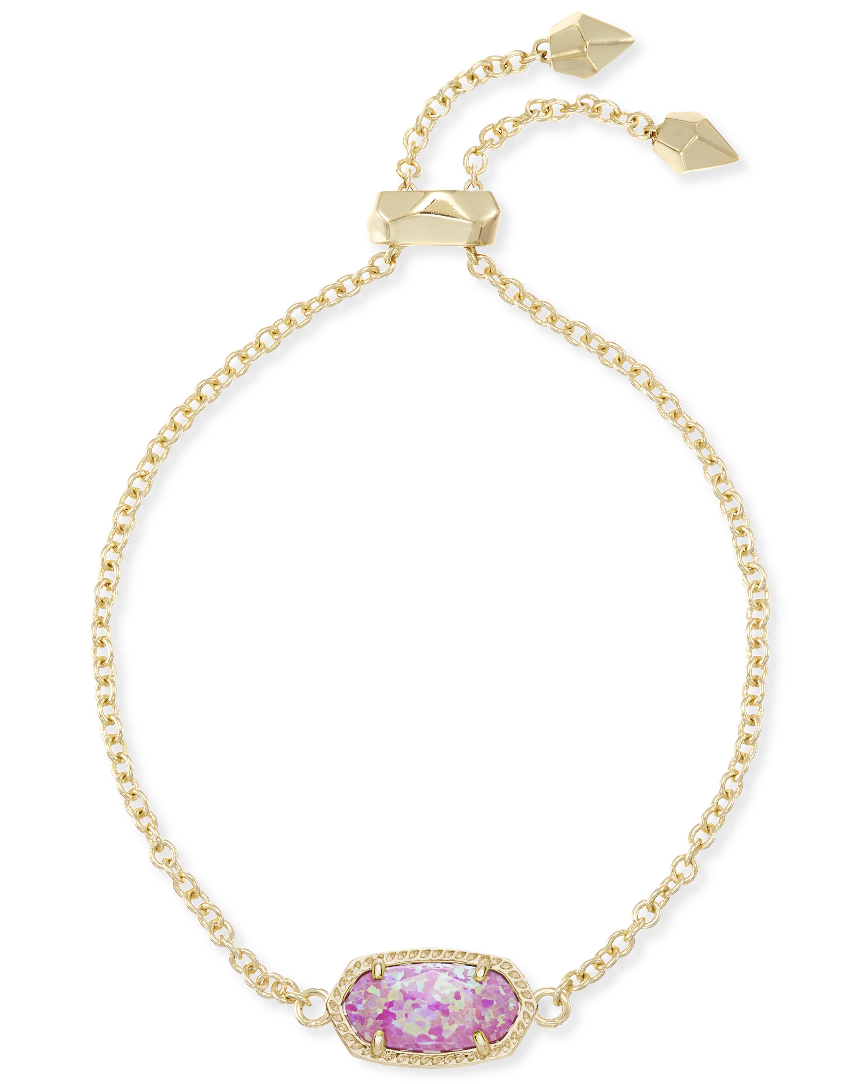 6f2f82a91e638 Elaina Fuchsia Opal Op09 Gold Tone Bracelet - 4217714532